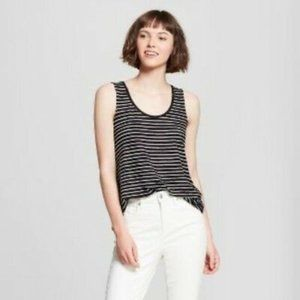 *2/15* Striped Comfy Soft Loose Tank Top A New Day